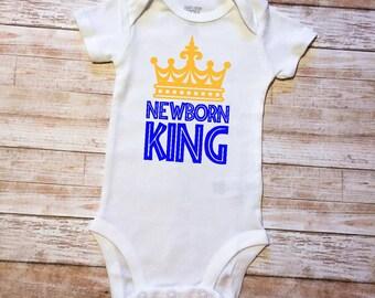 Newborn King Baby Onesie Baby Shower Gift