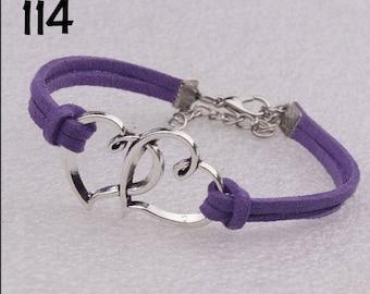 Double Heart Infinity Bracelets