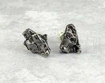 Campo del Cielo Meteorite Earring Sterling Silver Studs Secure Clasp - #A12