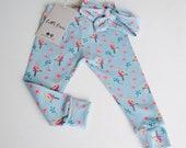 Girls Tropical Parrot Leggings Baby Girl Childrens Leggings Girls Leggings Gift Baby Gift Baby Shower