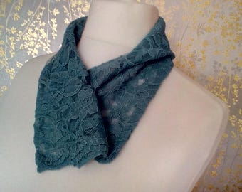 Corn Flower Blue lace Scarflette FREE Postage Anywhere