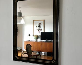 Large mirror Belgian 70x50cm vintage 1960