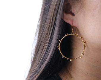 Eclipse Jewelry, Eclipse Earrings, Sun Earrings, Sun and Moon Earrings, Dark Moon Earrings, Total Eclipse 2017, Solar Eclipse Earrings, Gold
