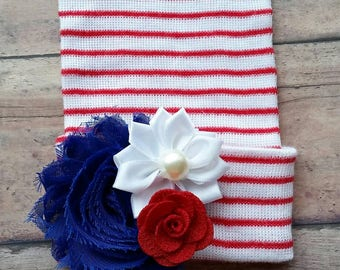 4th of july baby hat - patriotic baby girl hat - fourth of July newborn hat - 4th of july newborn girl hat - baby shower girl gift
