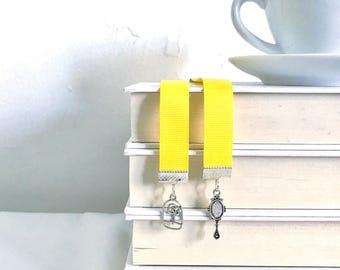 Beauty and the Beast bookmark || ribbon bookmark