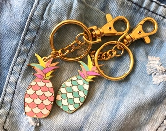 Pineapple Bag Charm Keychain