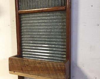 Vintage/Antique/Repurposed Washboard Planter