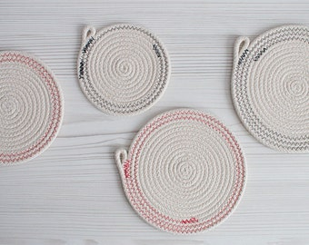 Rope Coaster / Trivet Set of 4