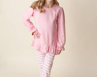 Custom Pink Ruffle Girls Outfit