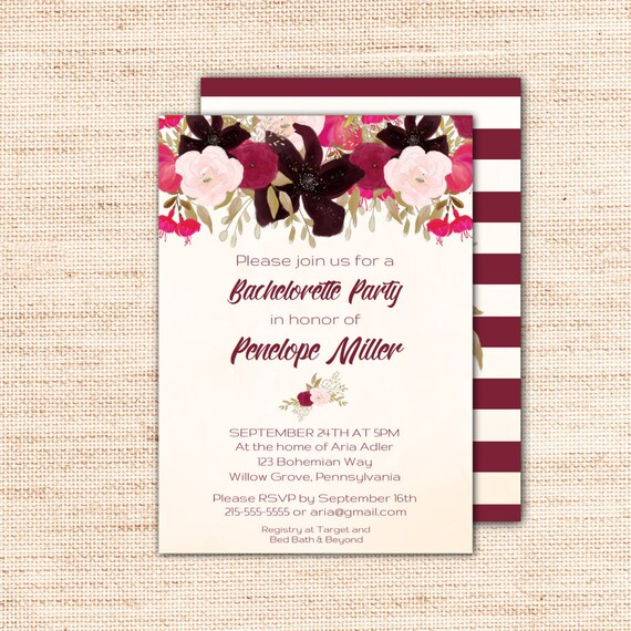 Boho bachelorette party invitation template printable instant il570xn stopboris Images