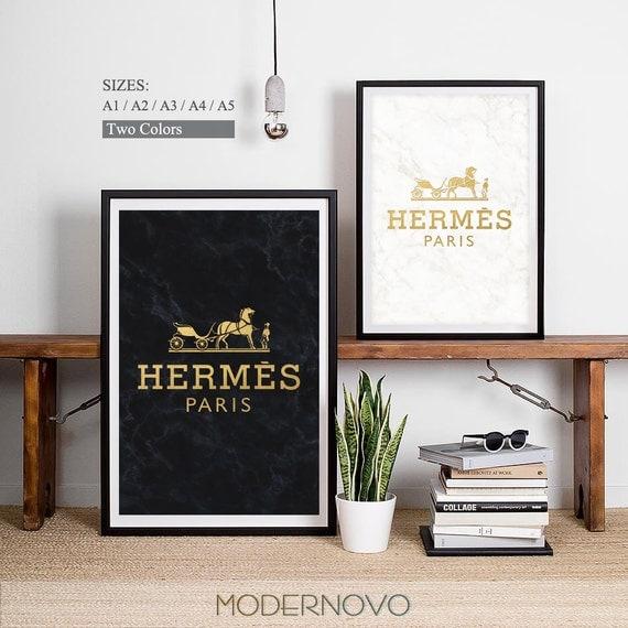 Hermes paris hermes print hermes poster fashion design - Poster schlafzimmer ...