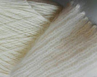 80% rabbit angora yarn on cone, luxury angora fiber, bunny yarn for hand knitting, per 100 gr