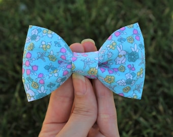 Easter clip-on bow tie, Bunny bow tie, Baby bow tie, Toddler bow tie, Boy's bow tie, Men's bow tie