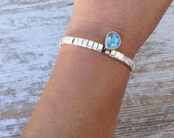 Swarovski bracelet, bracelet tear swarovski and zamak, Swarovski tear bracelet