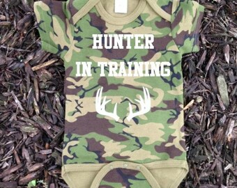Camo Baby Clothes - Hunting Baby - Baby Boy Clothes - Hunting Baby Boy - Baby Hunting Clothes - Camo Baby - Hunter in Training Design