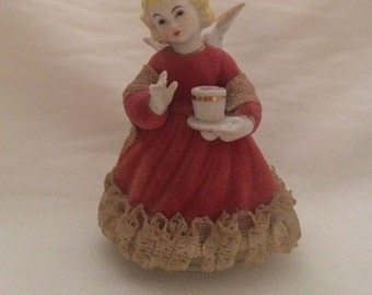Ceramic christmas angel figurine