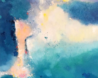Original abstract oil painting on canvas:light of soul 193