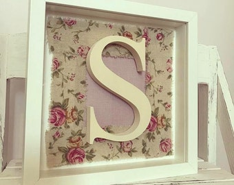 Initial Frame, Personalised, Shabby Chic, Letter Frame, Wall Decor