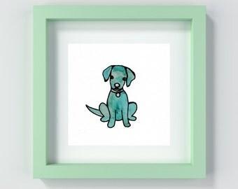 Puppy Wall Art, Puppy Decor, Puppy Print, Dog Wall Art, Dog Art Print, Dog Painting, Puppy Painting, Dog Decor, Dog Prints, Kid's Room Art