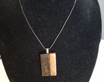 Ebony and Rose Wood Golden Ratio Wood Pendant