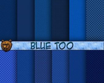 blue scrapbook patterns, digital paper