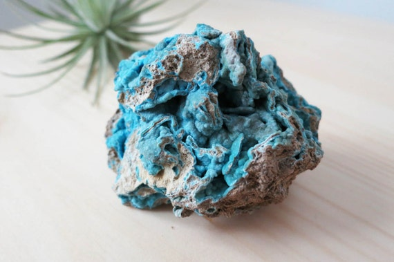 Large Bubbly Neon Blue Hemimorphite From Wenshan, Yunnan Province of China - 5.5cm x 4.5cm - ITEM #45