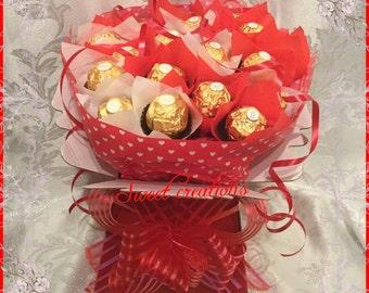 Ferrero Rocher Bouquet hearts Mother's Day