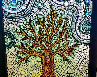 Mosaic Rustic Tree