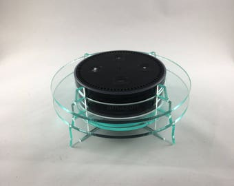Echo Dot Stand - Green Glass