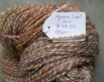 Alpaca/wool  yarn multi colour