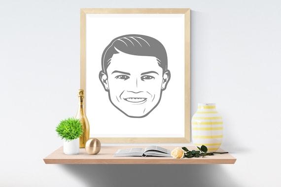 Ronaldo, Football, Soccer, World Cup, Real Madrid, Wall Art, Dorm Poster, Soccer Poster, Football Poster, Ronaldo Football,Cristiano Ronaldo