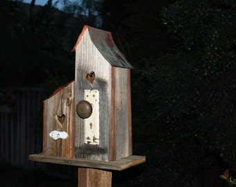 Rustic Bird House - Made From Reclaimed Wood