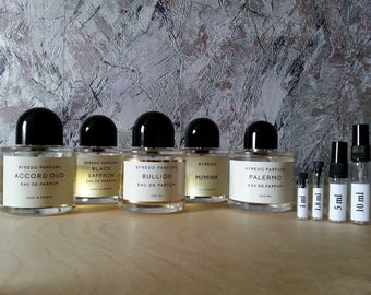 BYREDO - 3 or 5 pieces fragrance SET - niche perfume samples and travel sprays !!! Free Shipping !!!
