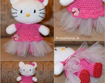 Hello Kitty, Hello Kitty amigurumi, Dancer Hello Kitty, Printsess Hello Kitty, Crochet Doll,Ballet Hello Kitty, Pink Hello Kitty , Kitty