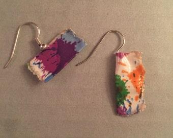 Paint Splatter Duck Tape Earrings