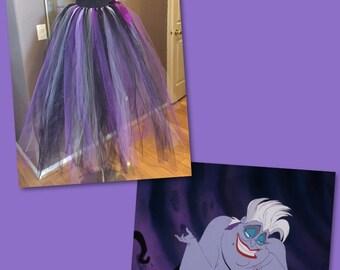 Long Disney Ursula inspired tutu