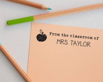 Teacher Stamp, Gift for Teacher, Stamp, Custom Book Stamp for Teacher, Custom Teacher Stamp, Teacher Book Stamp, Teacher Appreciation Gift