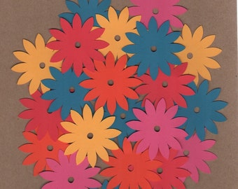 "50 - 2"" Flower Die Cuts for Paper Crafts  Set 1001"