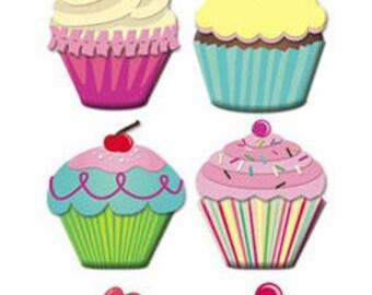 Jumbo Cupcakes Stickers