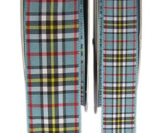 Thompson Tartan Ribbon - CUT LENGTHS. .. 16, & 25mm Widths.... (20m Reels also available - pls. see REELS listing)