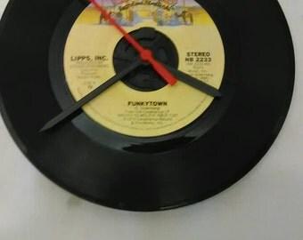 Funkytown 45 Record Clock - Lips Inc.