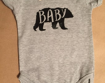 Baby Bear Onesie Baby Bear Creeper Baby Bear Bodysuit