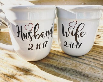 Engagement gift, bride to be gift, engagement gift for best friend, engagement gift for couples, his and hers mugs,his and hers, coffee mug