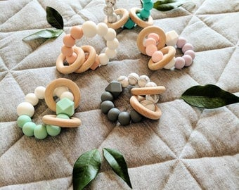 Rattle Rings Teether - Baby Teething Ring