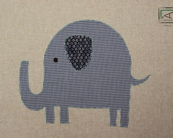 Elephant, ELEPHANT square room for children, picture bedroom baby, fabric, fabric
