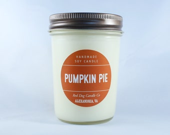 Pumpkin Pie Handmade Soy Candle   Fall Candle   Pumkin Candle   Hand-poured soy candle in Pumpkin   Soy Candle with Lid   Fall Candle