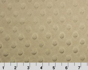 Shannon Minky Fabric, Shannon Dimple Dot Minky, Beige Minky Fabric, Beige Dot Minky, Beige Shannon Minky, Minky Fabric By The Yard