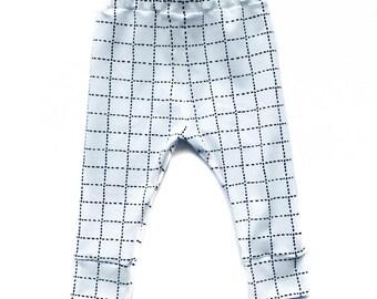 Leggings White Grid