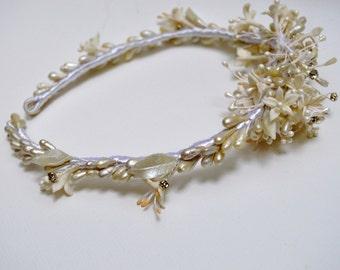 AZAHAR-diadema - flowers-romantic style-headband novia-tocados headband TIARA flores-tocados - boho chic style novia-corona