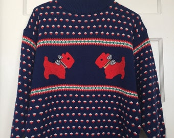 Sugar Co. Ltd.  Scotty Dog Sweater